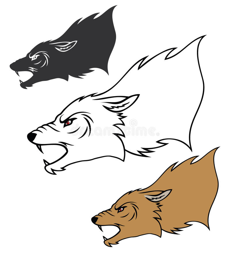Download Roaring wolf head stock vector. Illustration of nature - 27951972