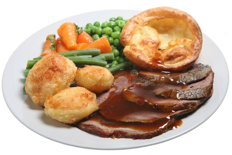 roast γευμάτων βόειου κρέατος η Κυριακή στοκ φωτογραφίες με δικαίωμα ελεύθερης χρήσης