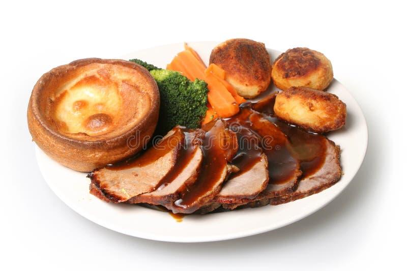 roast γευμάτων βόειου κρέατο&s στοκ εικόνες με δικαίωμα ελεύθερης χρήσης