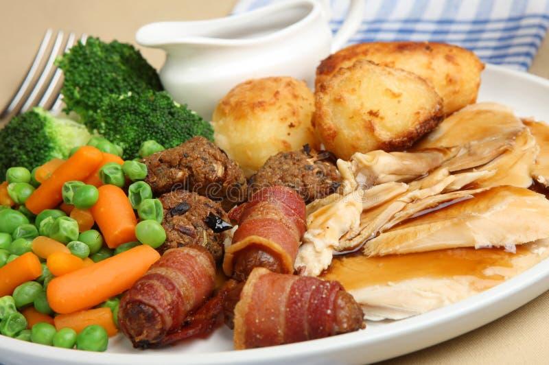 roast γευμάτων κοτόπουλου στοκ εικόνες