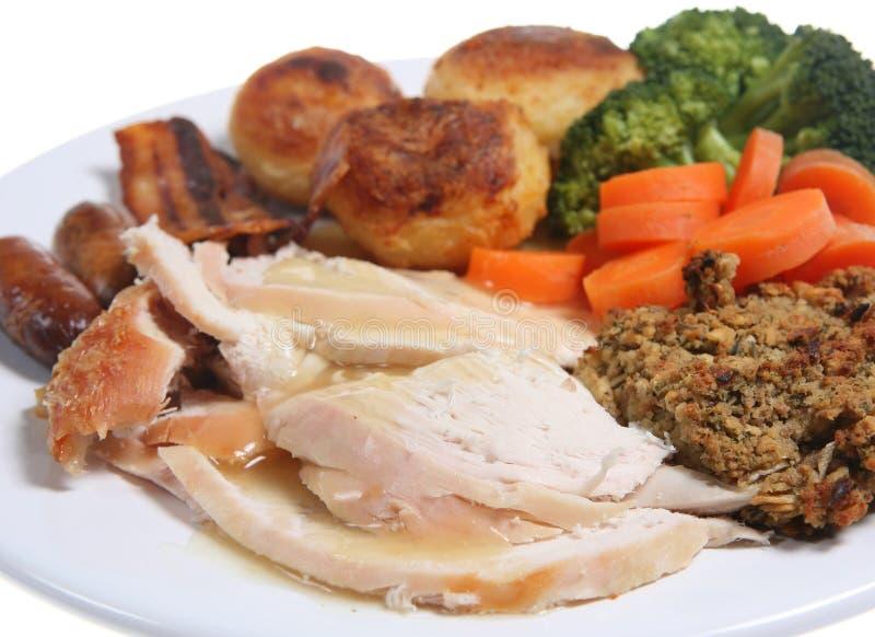 roast γευμάτων κοτόπουλου στοκ φωτογραφία