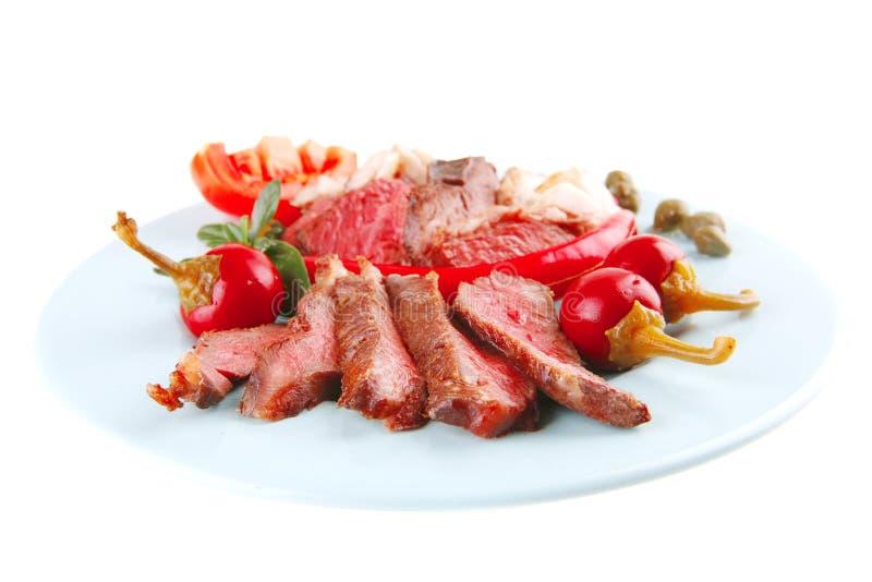roast πιάτων κρέατος φέτες στοκ εικόνα με δικαίωμα ελεύθερης χρήσης