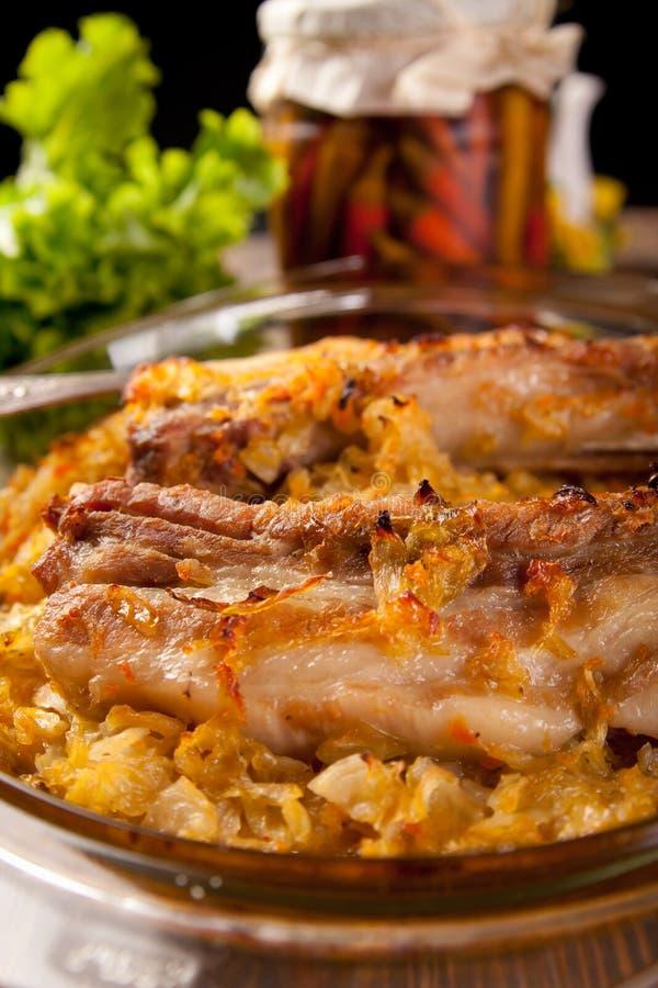 roast πλευρών χοιρινού κρέατο&si στοκ εικόνα