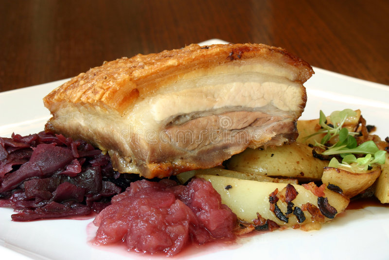 roast χοιρινού κρέατος τριξίματος στοκ εικόνες με δικαίωμα ελεύθερης χρήσης