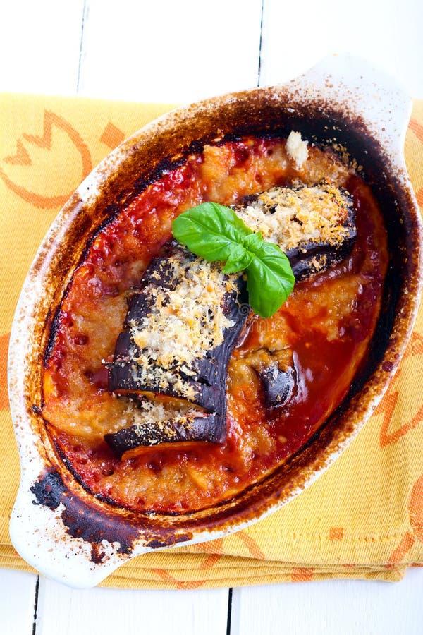 Free Roast Aubergine Parmigiana In Reeky Baking Tin Royalty Free Stock Photo - 57095725
