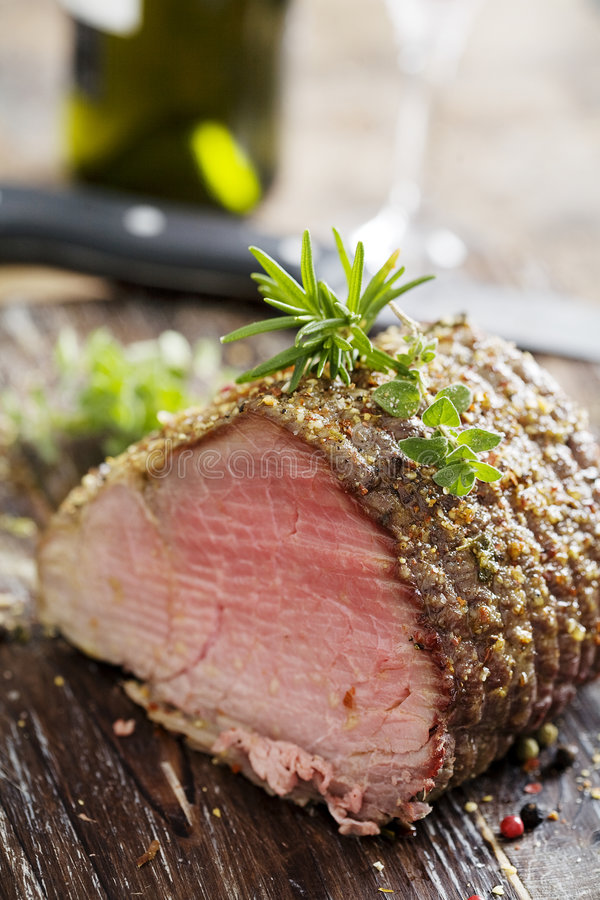 Download Roast beef stock photo. Image of food, herbs, beef, pepper - 3954450