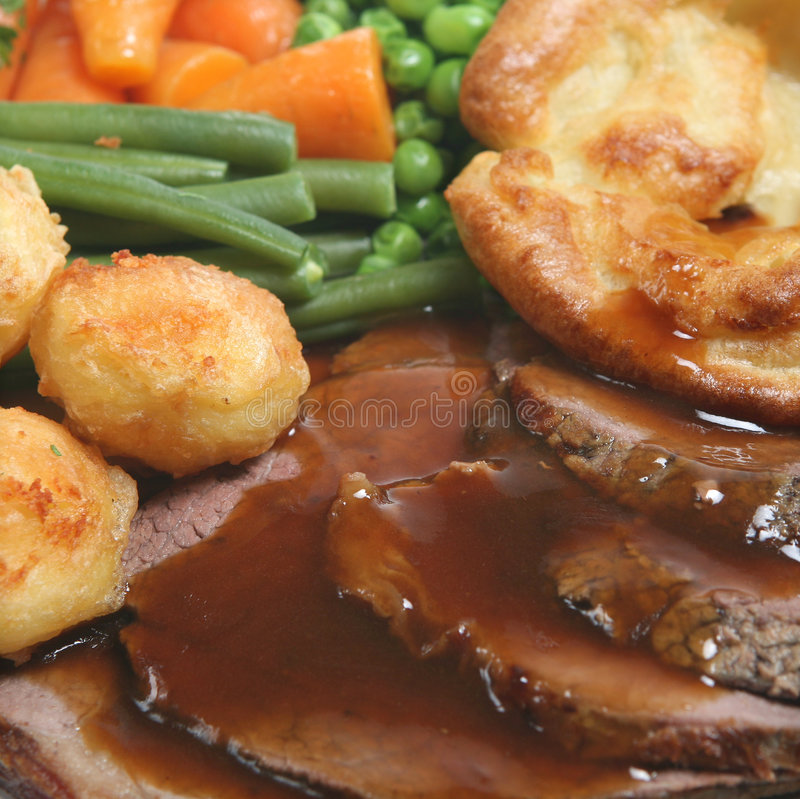 Roast Beef Dinner Royalty Free Stock Photography