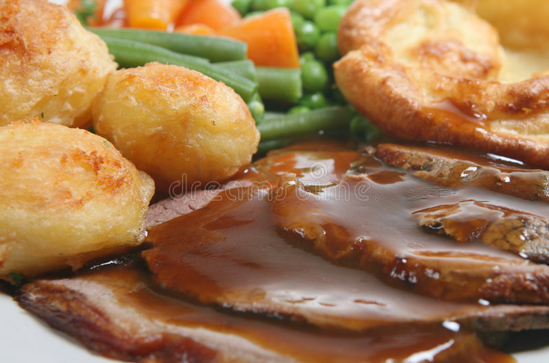 Download Roast Beef Dinner stock photo. Image of slices, yorkshire - 6962610