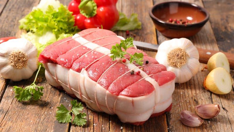 Roast beef fillet. And ingredient stock photos