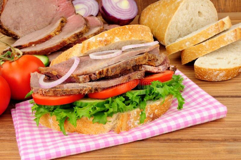 Roast Beef Salad Sandwich royalty free stock photography