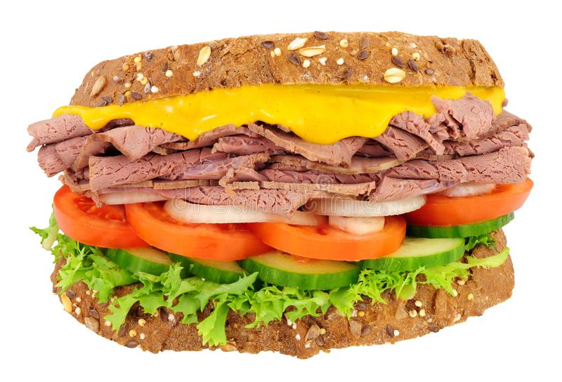Roast Beef And Salad Sandwich royalty free stock photography