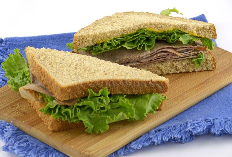 Download Roast beef sandwich stock image. Image of roast, green - 25538633