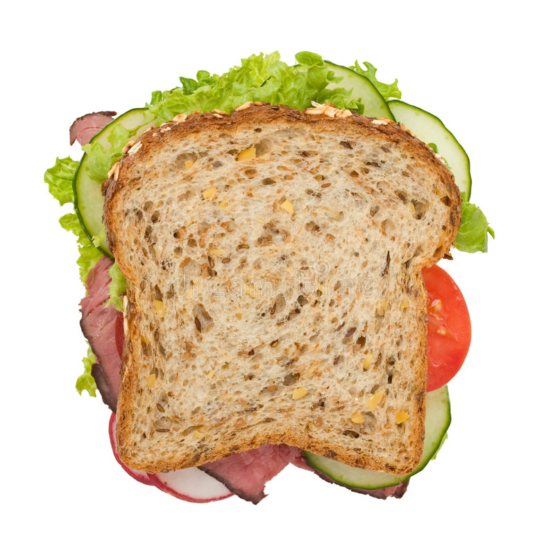 Free Roast Beef Sandwich Top View Stock Images - 4643714