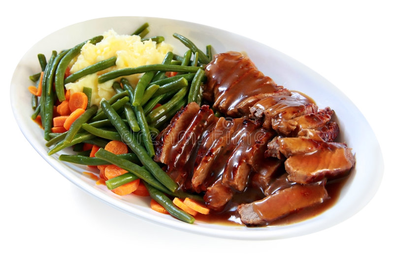Roast Beef And Vegetables Stock Image Image Of Platter