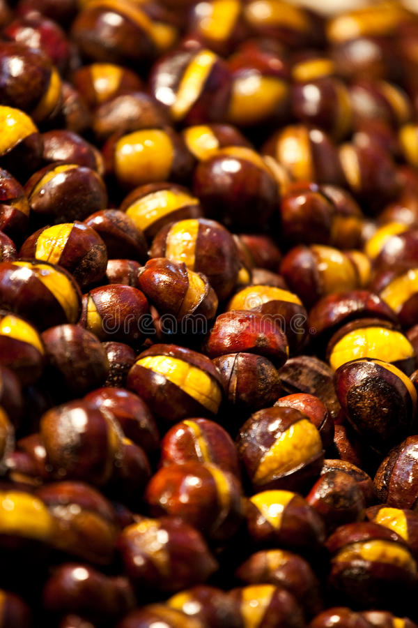 Roast Chestnuts stock images
