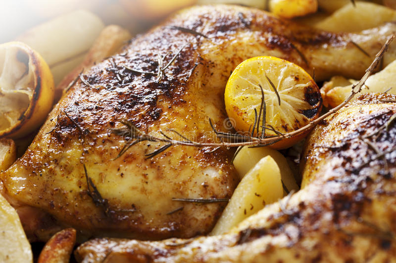 Download Roast chicken stock photo. Image of traditional, herbs - 23266872