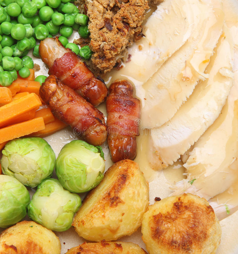 Download Roast Chicken Dinner stock photo. Image of potatoes, poultry - 15509368