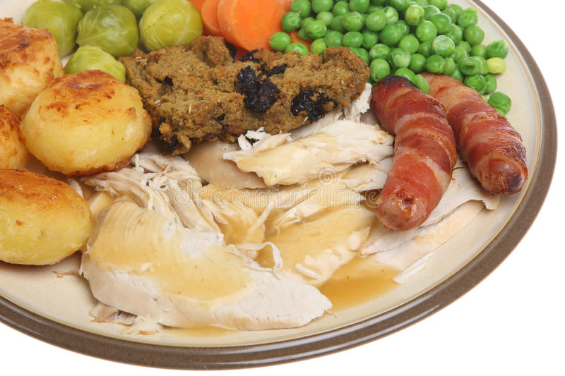 Roast Chicken Dinner royalty free stock image