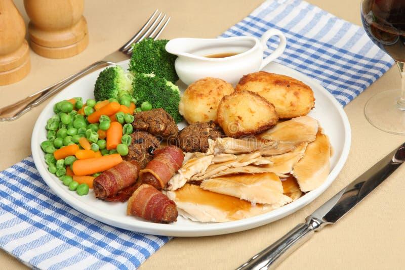 Download Roast Chicken Dinner stock image. Image of glass, chicken - 9570023