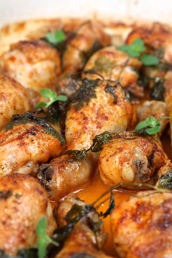 Download Roast chicken drumsticks stock photo. Image of group - 16362958