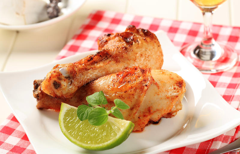 Download Roast chicken drumsticks stock image. Image of lime, cloth - 19861977