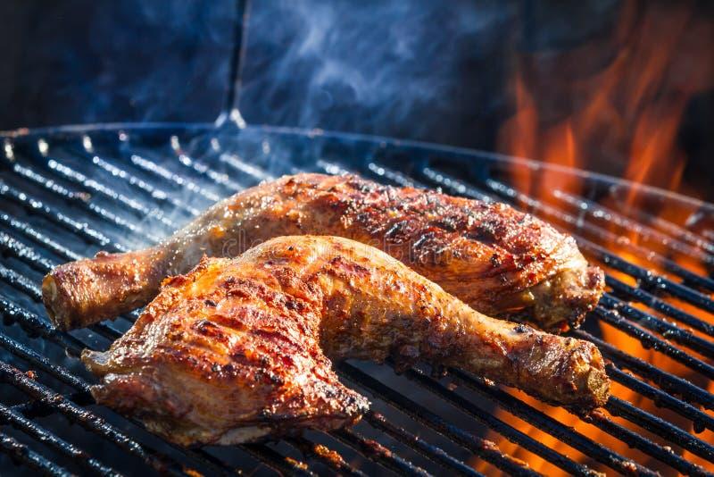 Roast chicken leg stock photography