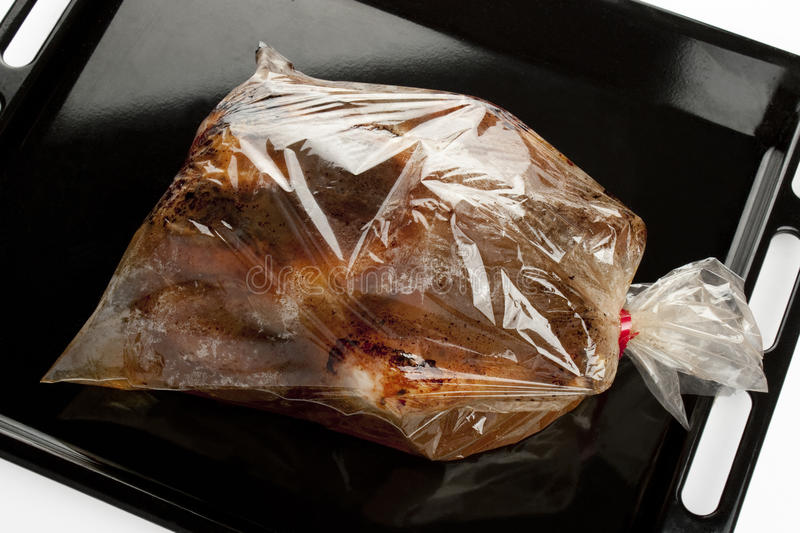 Download Roast Chicken Into A Oven Bag Stock Image - Image of cellophane, food: 25539889