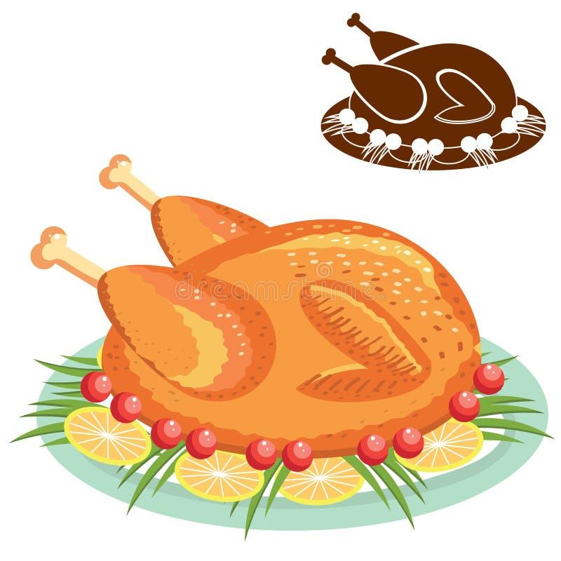 Roasted chicken Vector Image - 1497189   StockUnlimited  Roast Chicken Vector