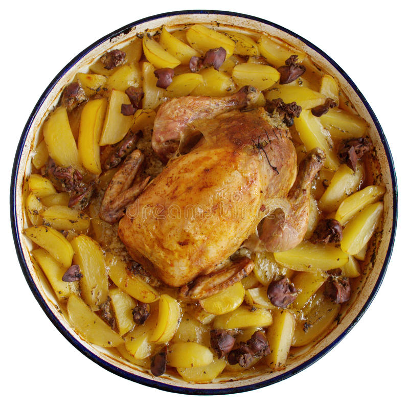 Download Roast Chicken With Potatoes Stock Photos - Image: 27745783