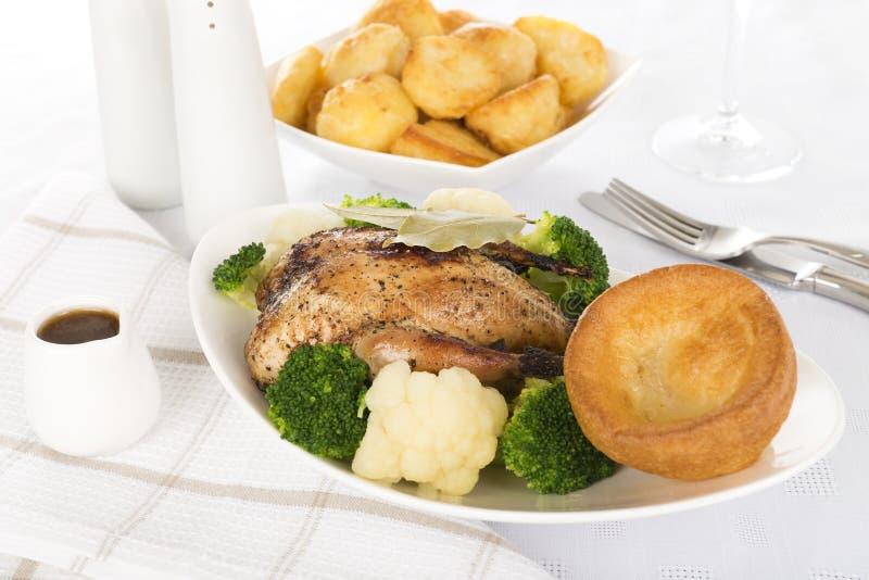 Download Roast Dinner stock photo. Image of chicken, gourmet, british - 27693372
