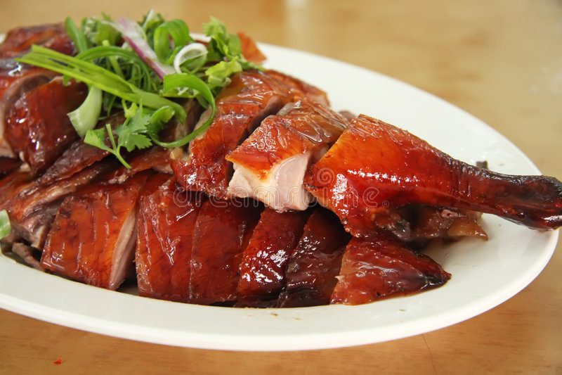 Roast duck royalty free stock image