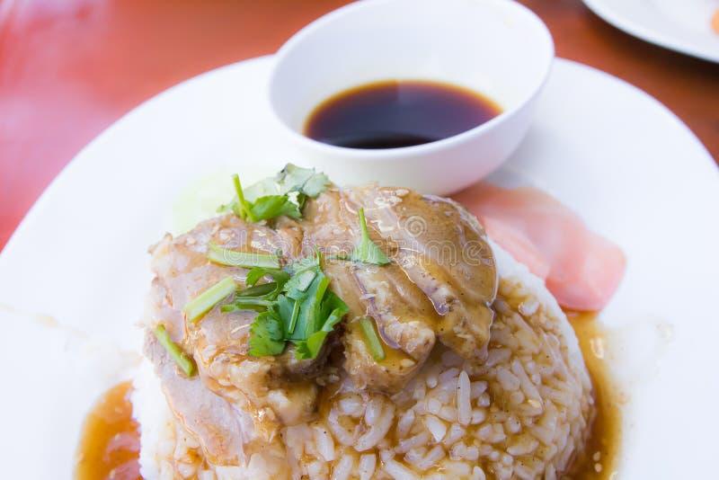 Roast duck on rice royalty free stock photos
