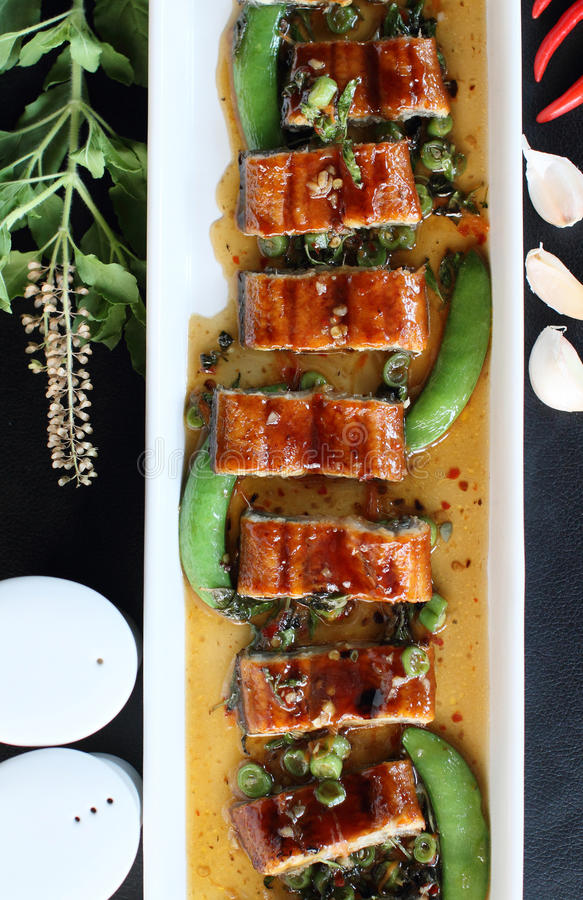 Roast eel royalty free stock images