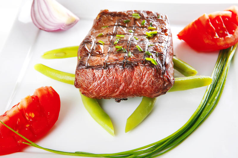 Roast fillet served royalty free stock photography
