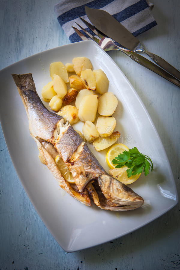 Roast fish royalty free stock photography