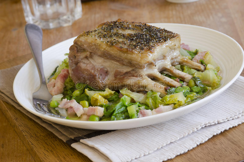 Roast lamb royalty free stock photos