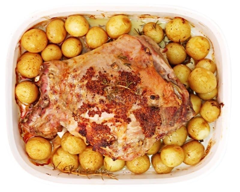 Roast Lamb Dinner royalty free stock images