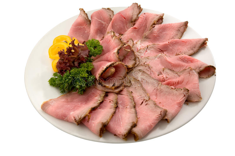 Roast meat slices royalty free stock photography