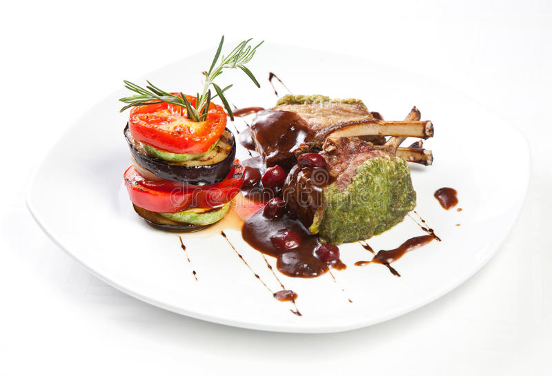 Download Roast Meet With Grilled Vegetables Stock Image - Image: 24352743