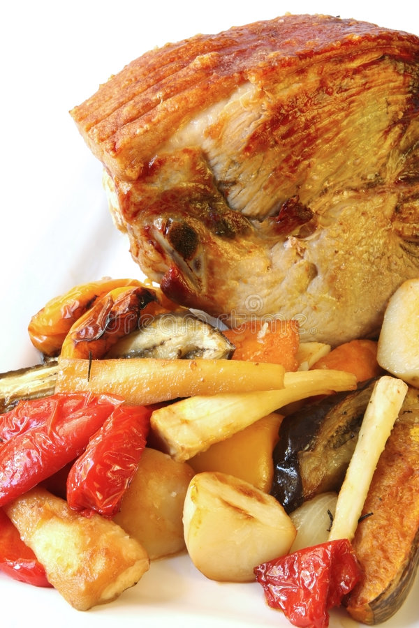 Free Roast Pork And Vegetables Royalty Free Stock Photography - 4688567