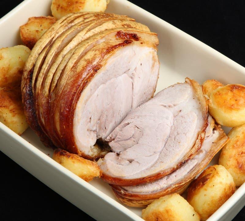 Roast Pork Joint royalty free stock photo
