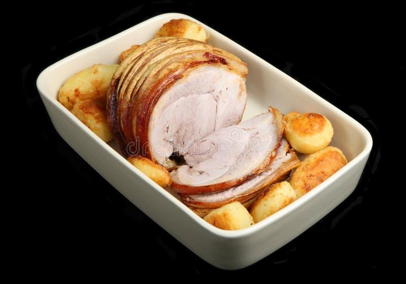 Roast Pork & Potatoes royalty free stock photo