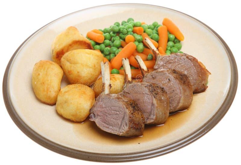 Roast Rack of Lamb Dinner