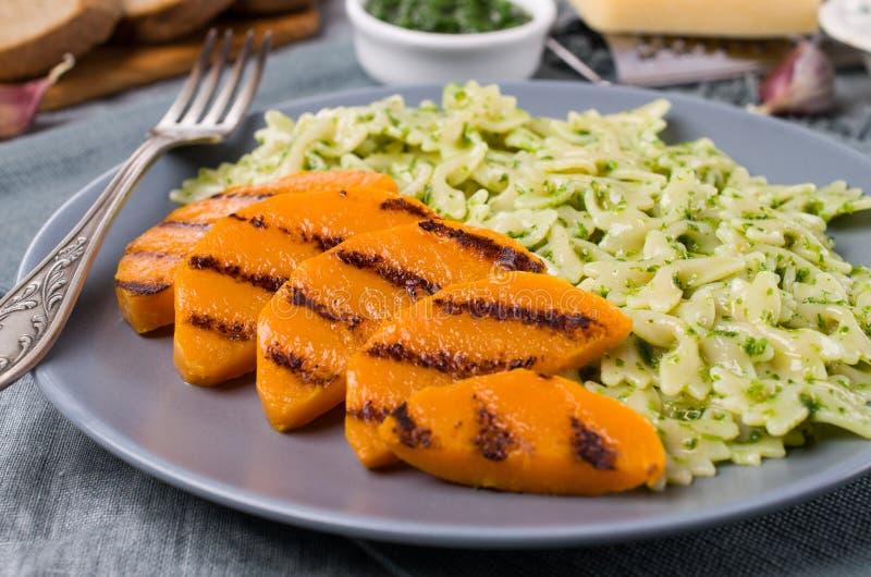 Roast slices of pumpkin stock photo