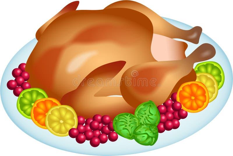 Download Roast turkey stock illustration. Illustration of cranberries - 1645893