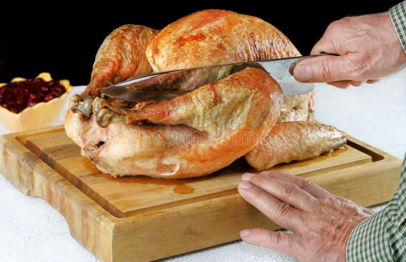 Roast Turkey on Cutting Board royalty free stock image