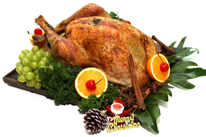 Roast Turkey. For Thanksgiving Day & Merry Christmas Day royalty free stock images