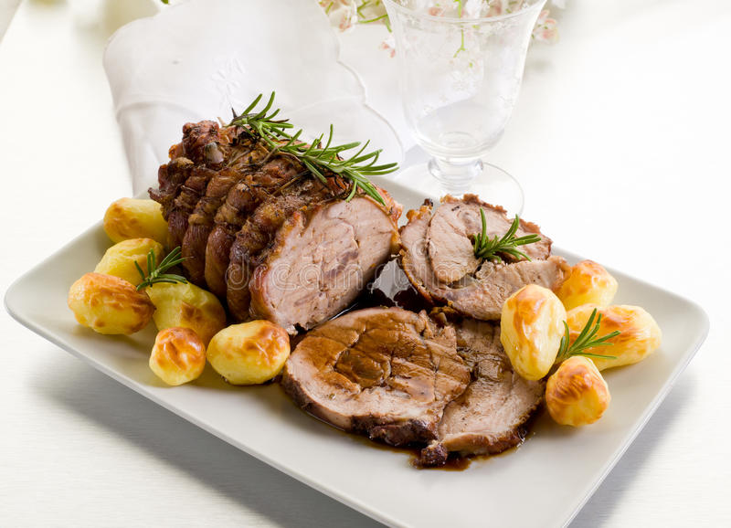 Roast of veal royalty free stock image