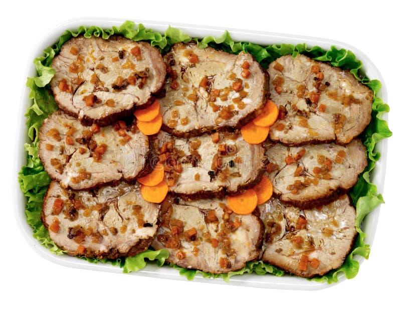 Roast veal stock image