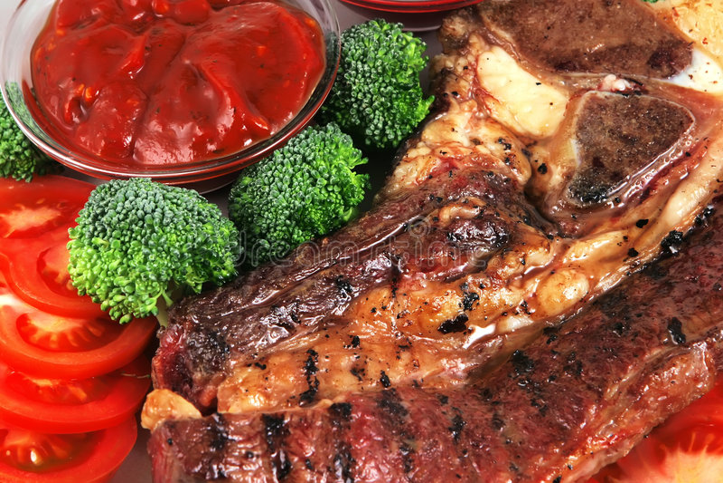 Roaste steak close up royalty free stock photo